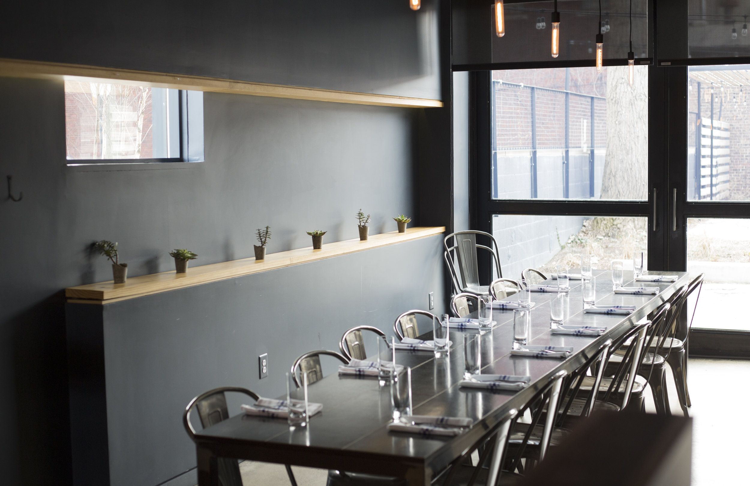 Selden Standard's long table invites more guests to sit, eat and communicate.