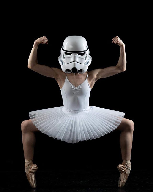 Maybe they couldn't shoot because they were always in ballet class.  May the 4th be with you #maythe4thbewithyou #ballet #balerina #stormtrooper #seanallottphotography @ballet_emma
