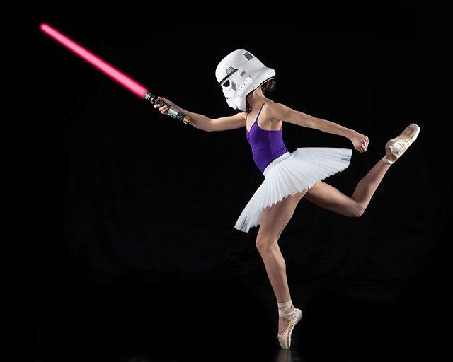 Excuse me Mr. Vader, you left your light saber behind.  #ballet #ballerina #dancer #maythe4thbewithyou @dancing_.sarah