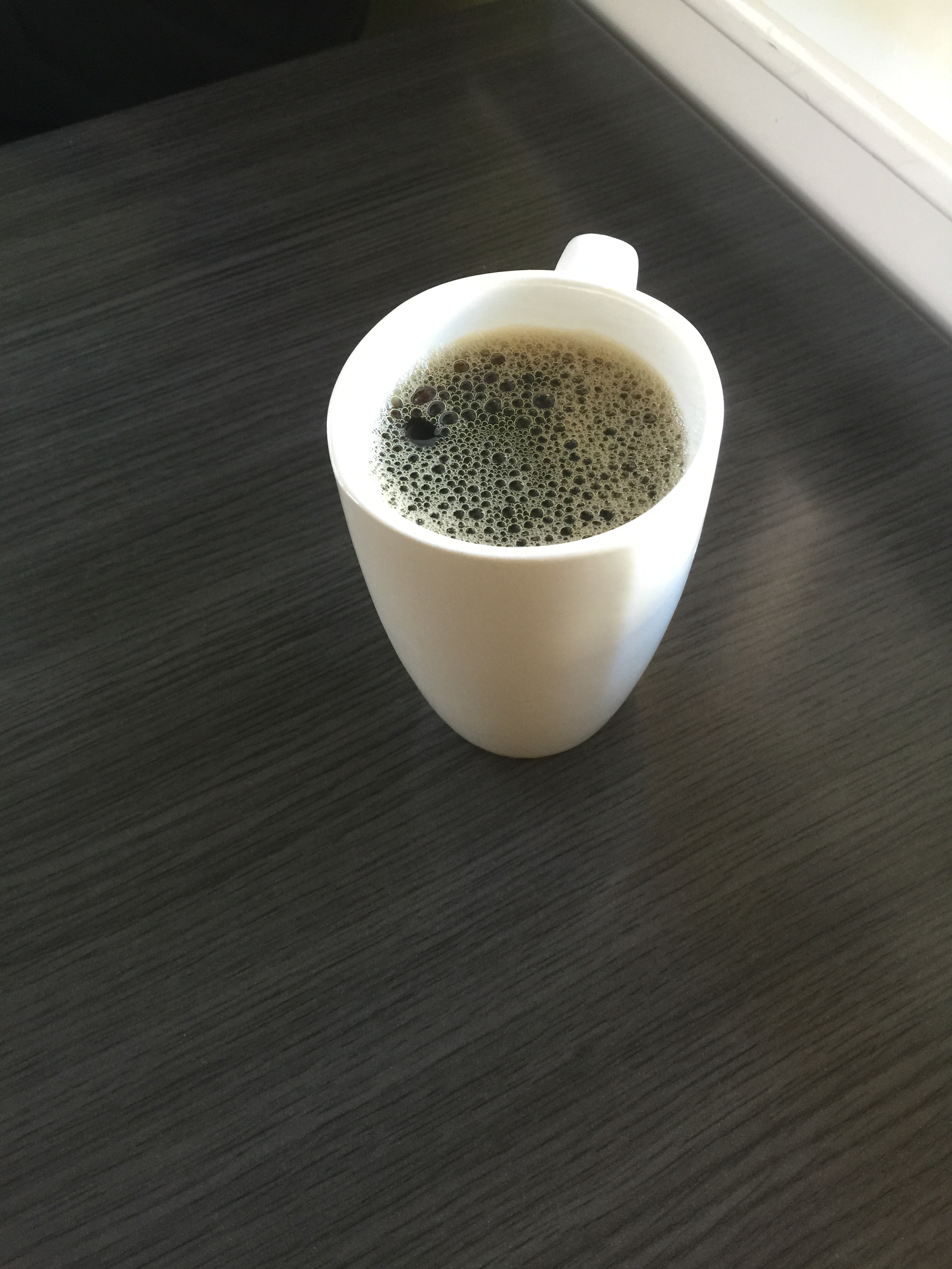 Artsy coffee shot.