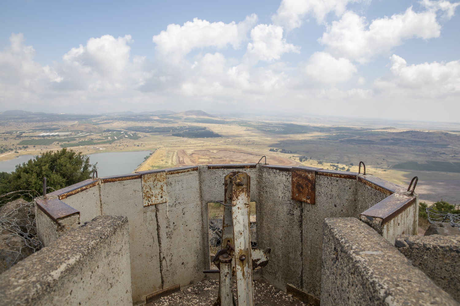 A lookout point from a bunker on top of the mountain shows views of the Israeli, Lebanese and Syrian land.