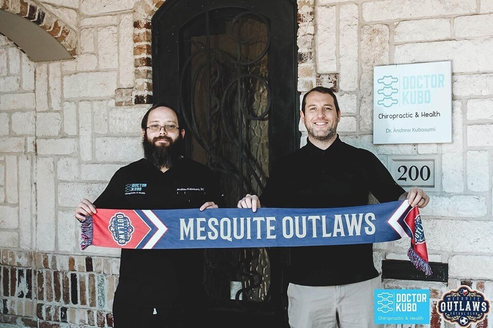 September 18, 2019 marked the day that Doctor Kubo officially became the team chiropractor for the Mesquite Outlaws. This soccer team is a newly formed team in the Major Arena Soccer League.