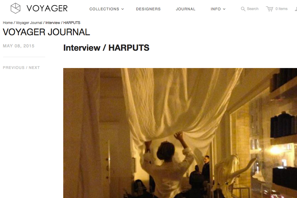 Interview / HARPUTS | Voyager Journal | May 8, 2015