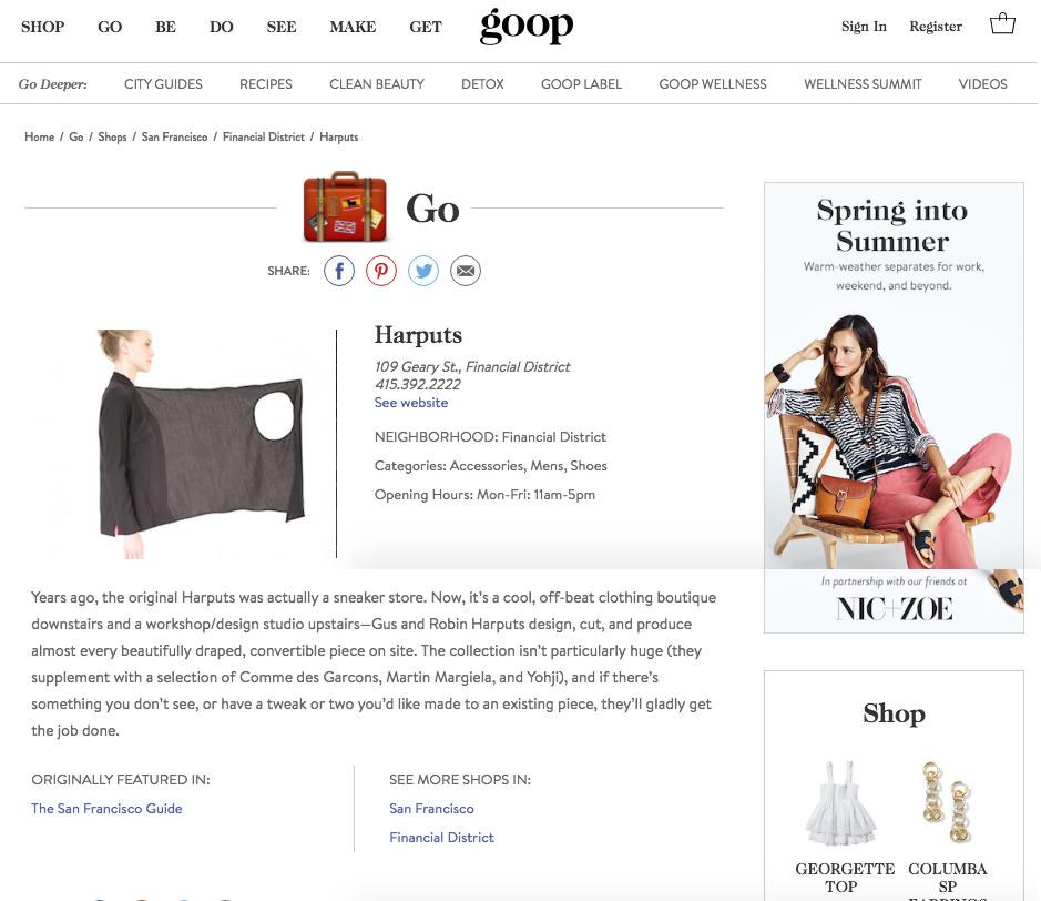 Harputs | The San Francisco Guide | GOOP