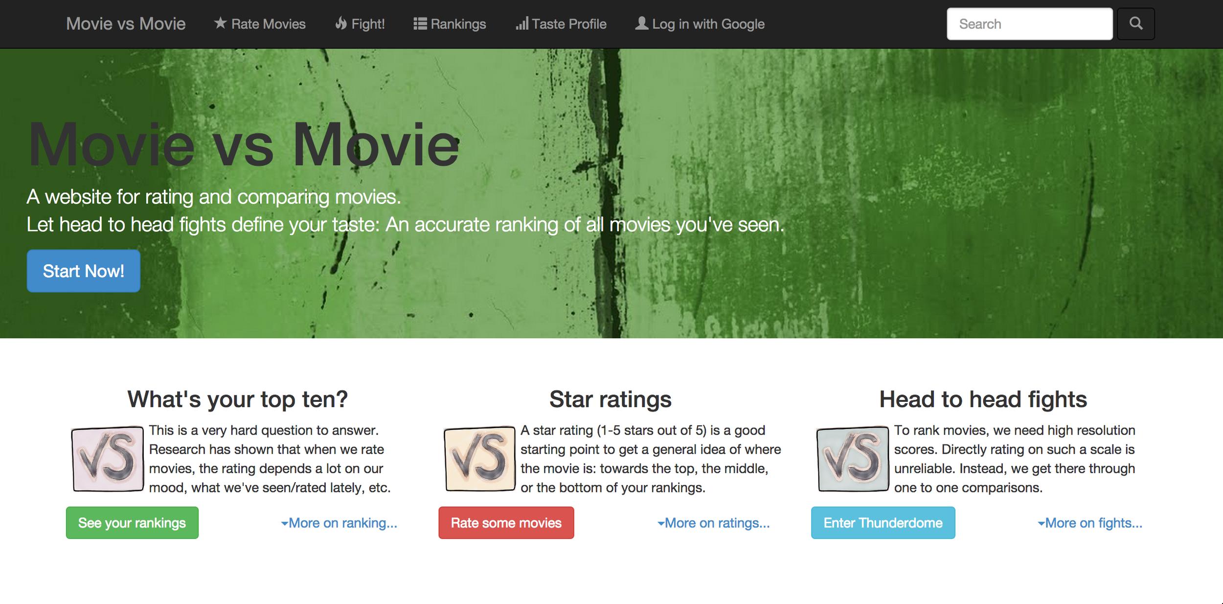 Movie versus Movie