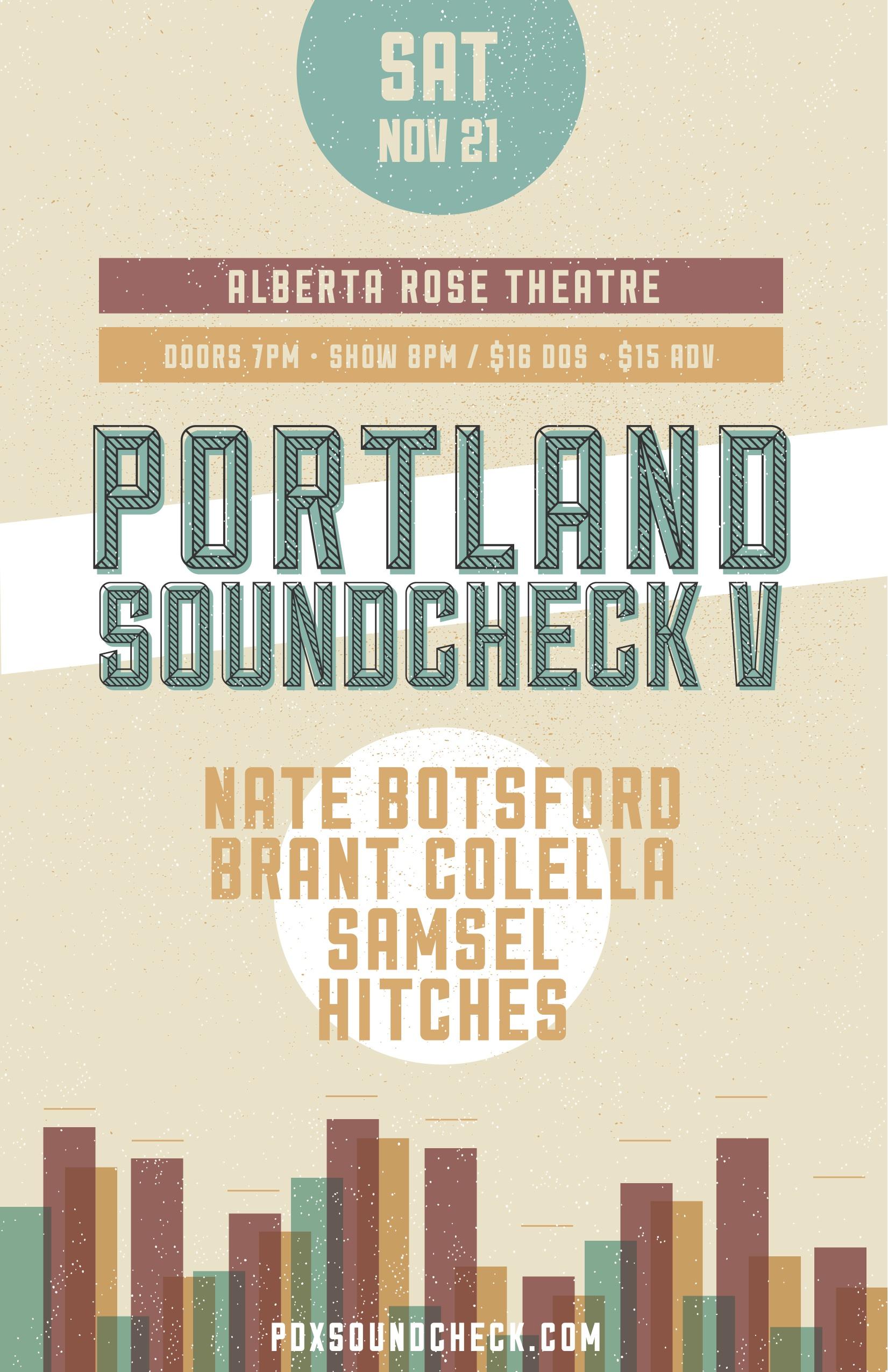 PDX Soundcheck V Poster