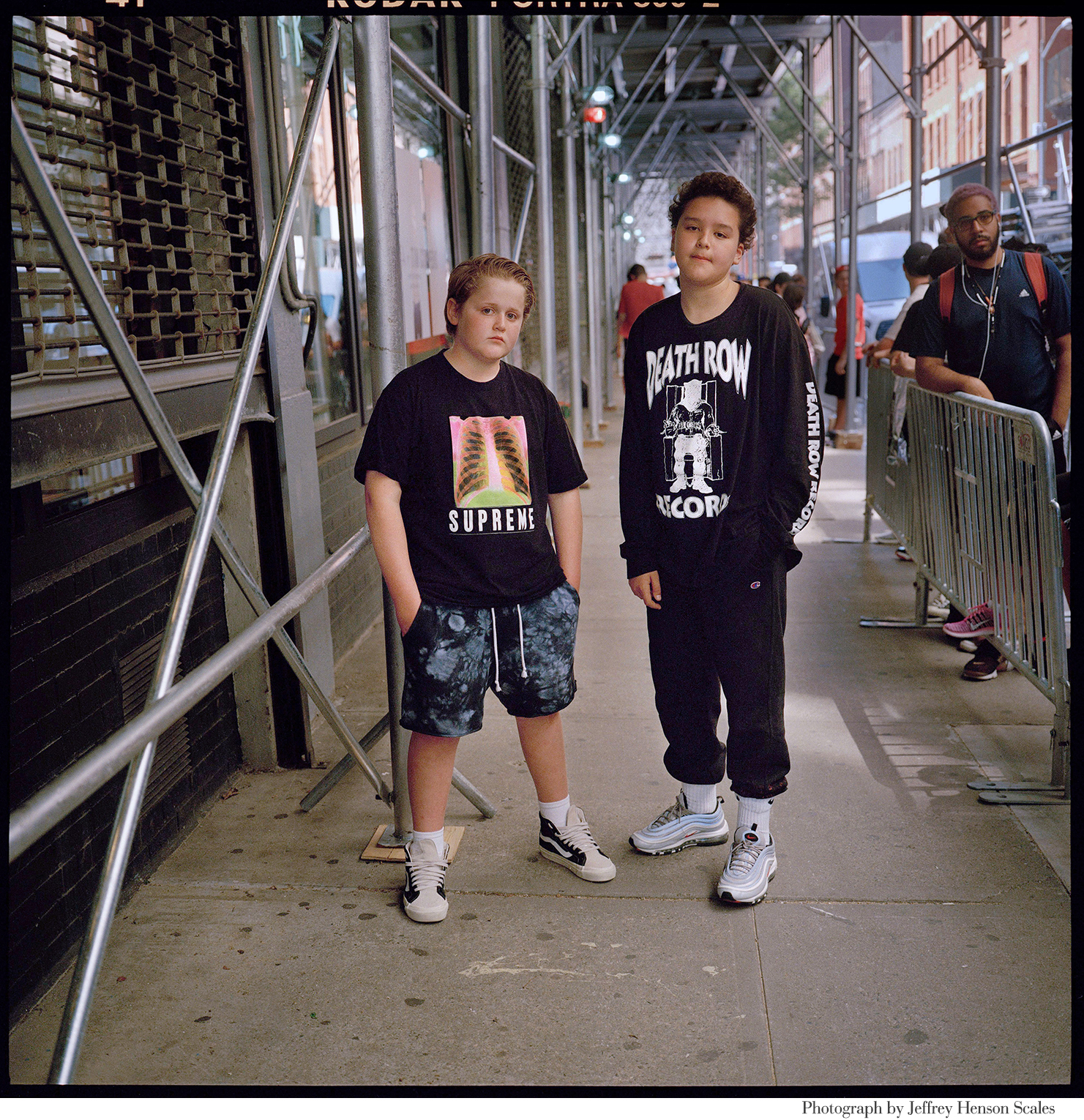 The Look _ New York Times_ Rebecca Pietri Stylist _ Casting _ Jeffery Henson Scale Photgrapher_Eve Lyon Editor_ New Geeks_Article_Nom Core- Youth Fashion_ Supreme_Palace_Vans_Street fashion _ Soho_ Teens_ Two Boys_ Shot .JPG