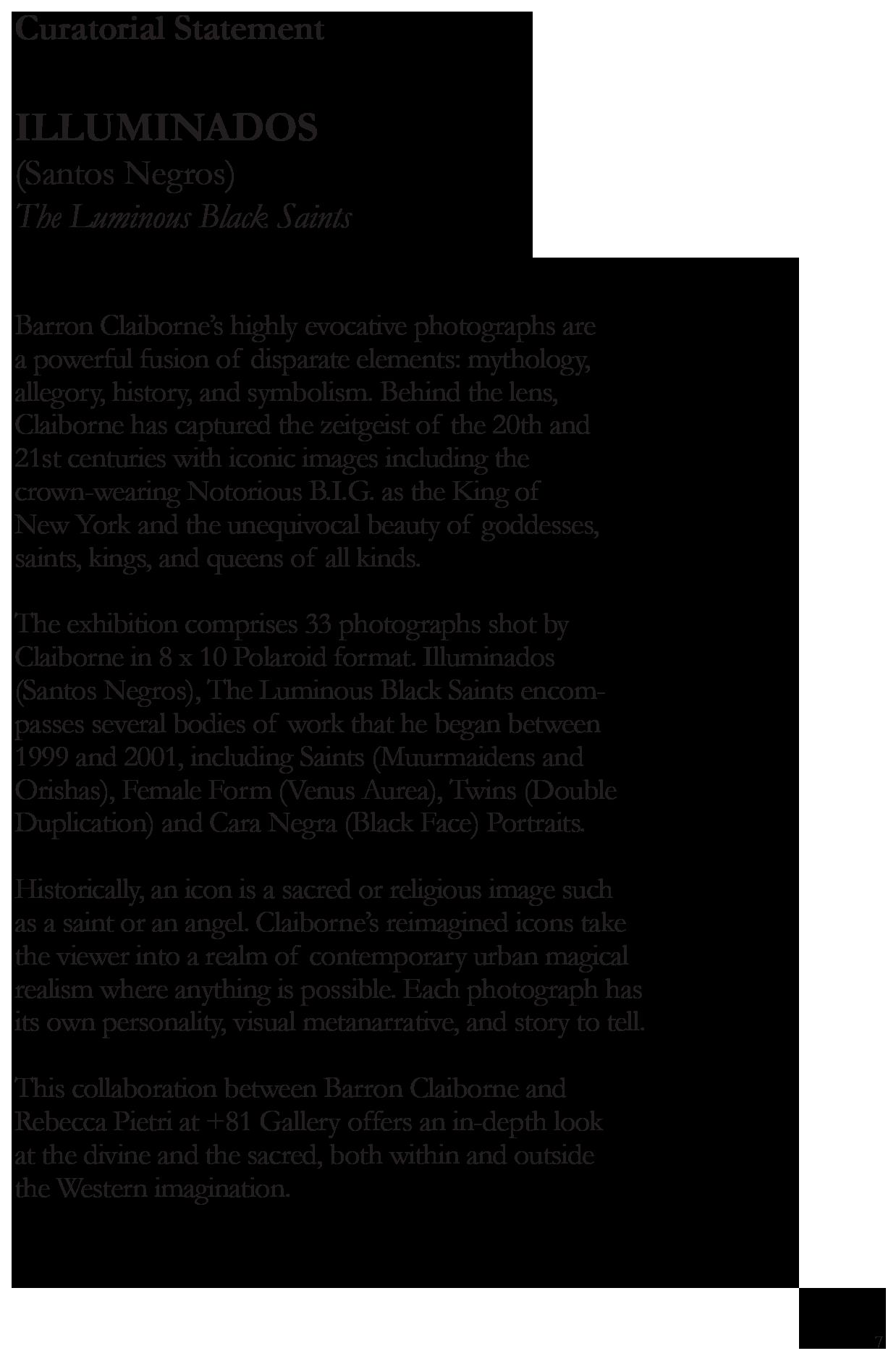 Illunminados Santos Negros_ The Luminos Black Saints _Rebecca Pietri Author _ Rebecca Pietri Curator_ +81 Gallery_Barron Claiborne photographer-7.png