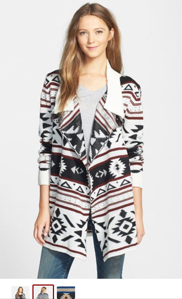 Image from Nordstrom.com. I really want to take a brush to this model's hair.