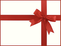 red bow gift card