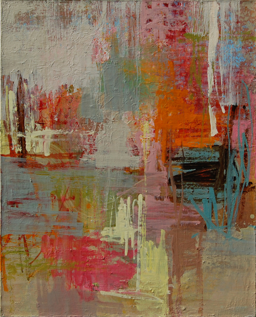 Simple Arrangements : 30 x 24 : Oil and mixed media on canvas : Private Collection
