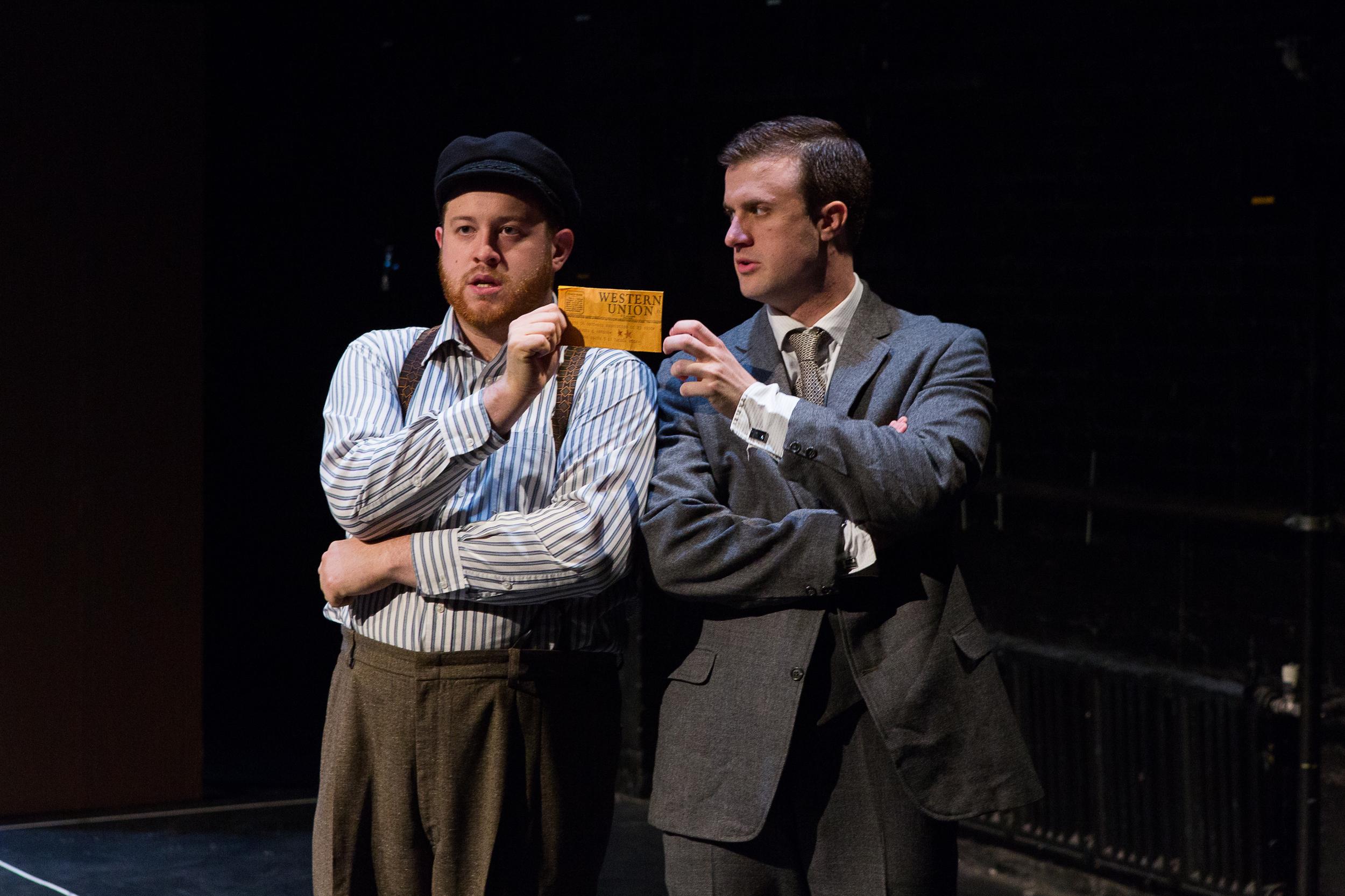 Trey K. Blackburn (sailor) & Paul Frederick in Hamlet ; directed by Brad Raimondo, photo by Scott Wynn
