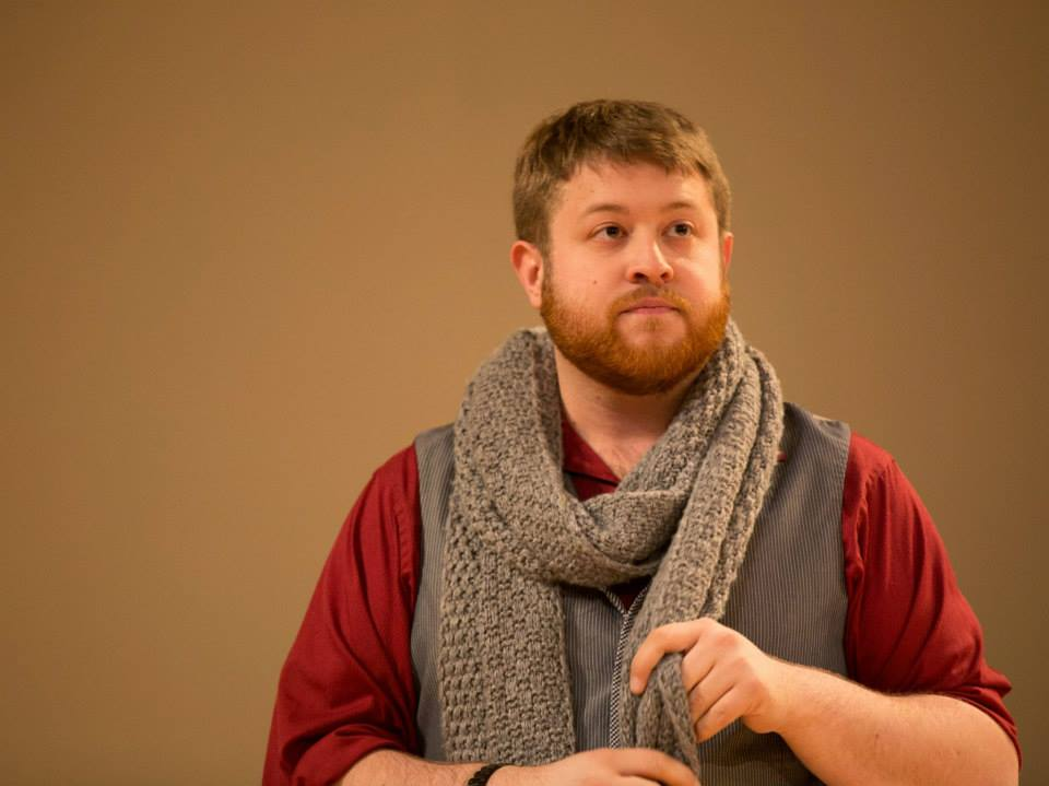 Trey K. Blackburn (1st Gentleman) in  Cymbeline ; Accidental Shakespeare Company, photo by Terry Richardson