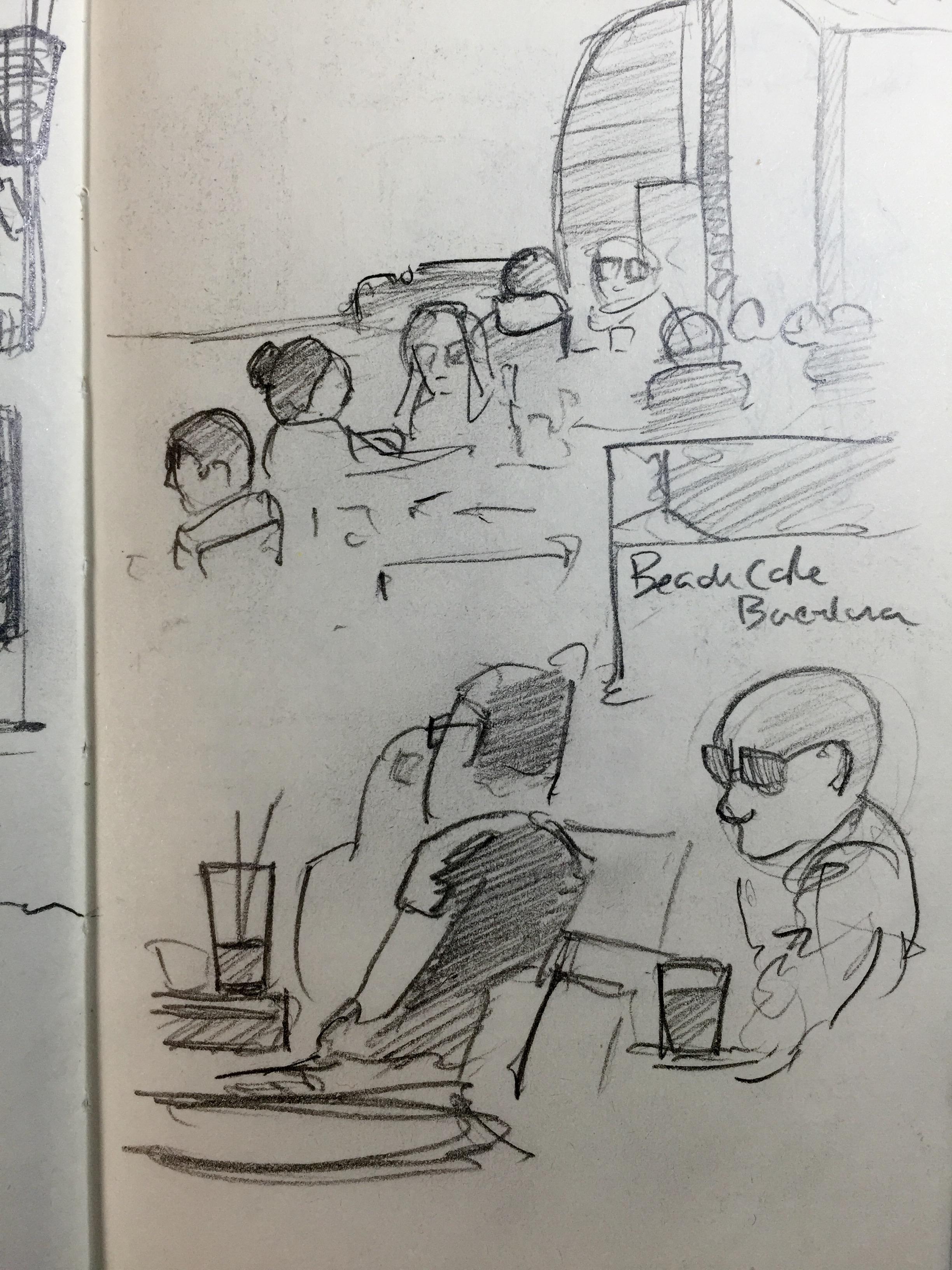 Others enjoying the brisk beach