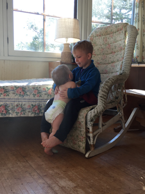Precious hugs.