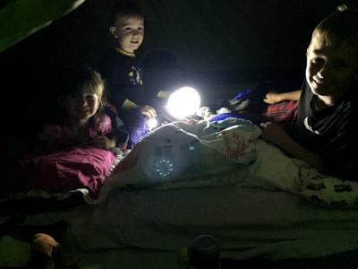 Tent time in Coffee Creek
