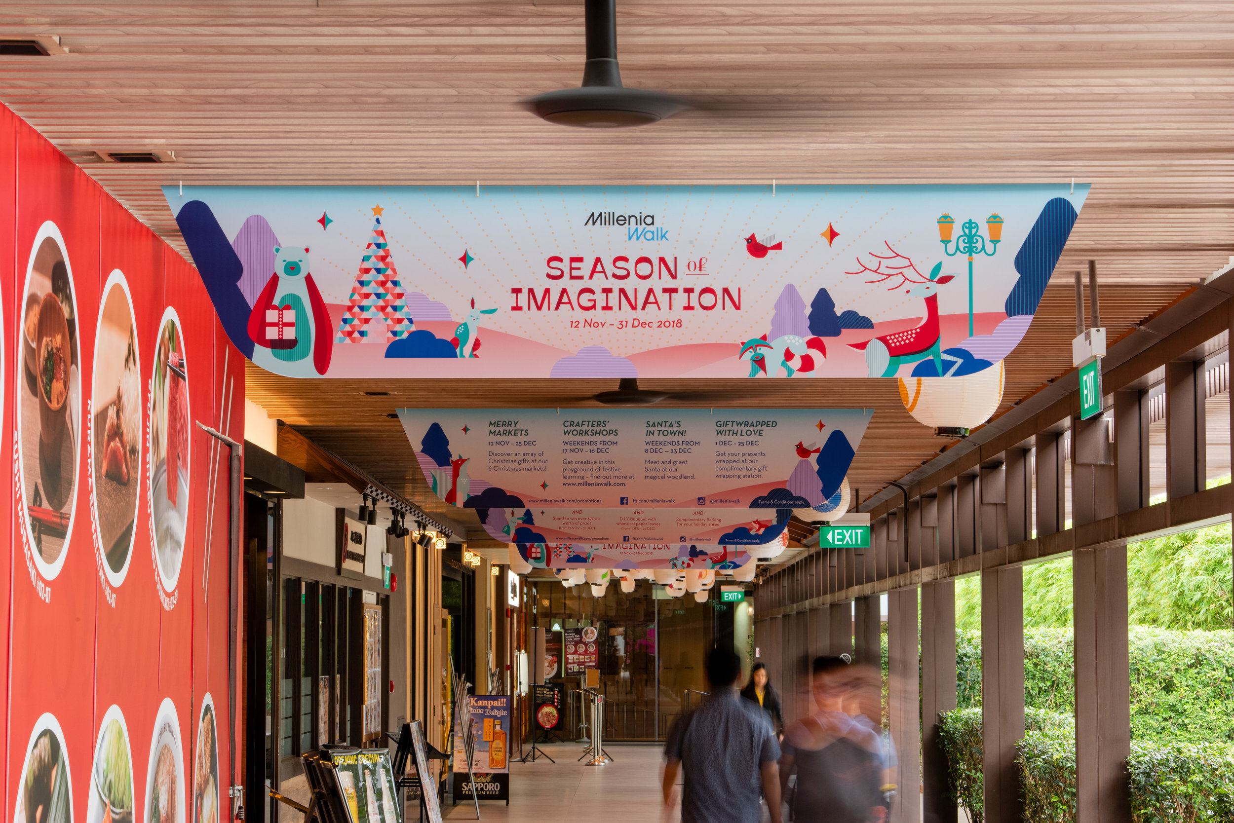 outeredit - Millenia Walk - Season of Imagination - japanese food street banners