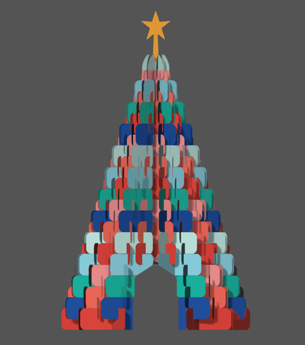 outeredit - Millenia Walk - Season of Imagination - christmas tree design