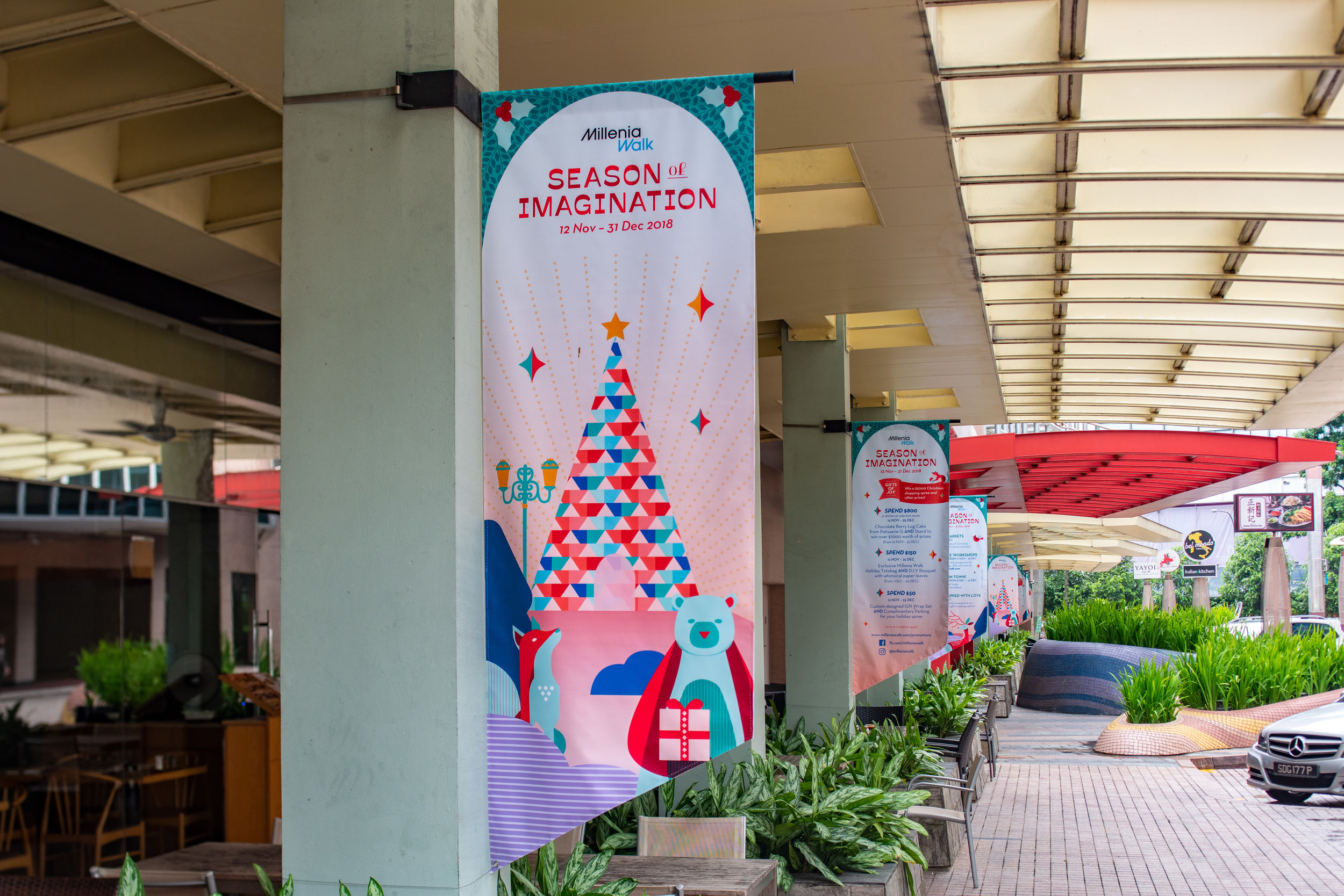 outeredit - Millenia Walk - Season of Imagination - park and dine banners