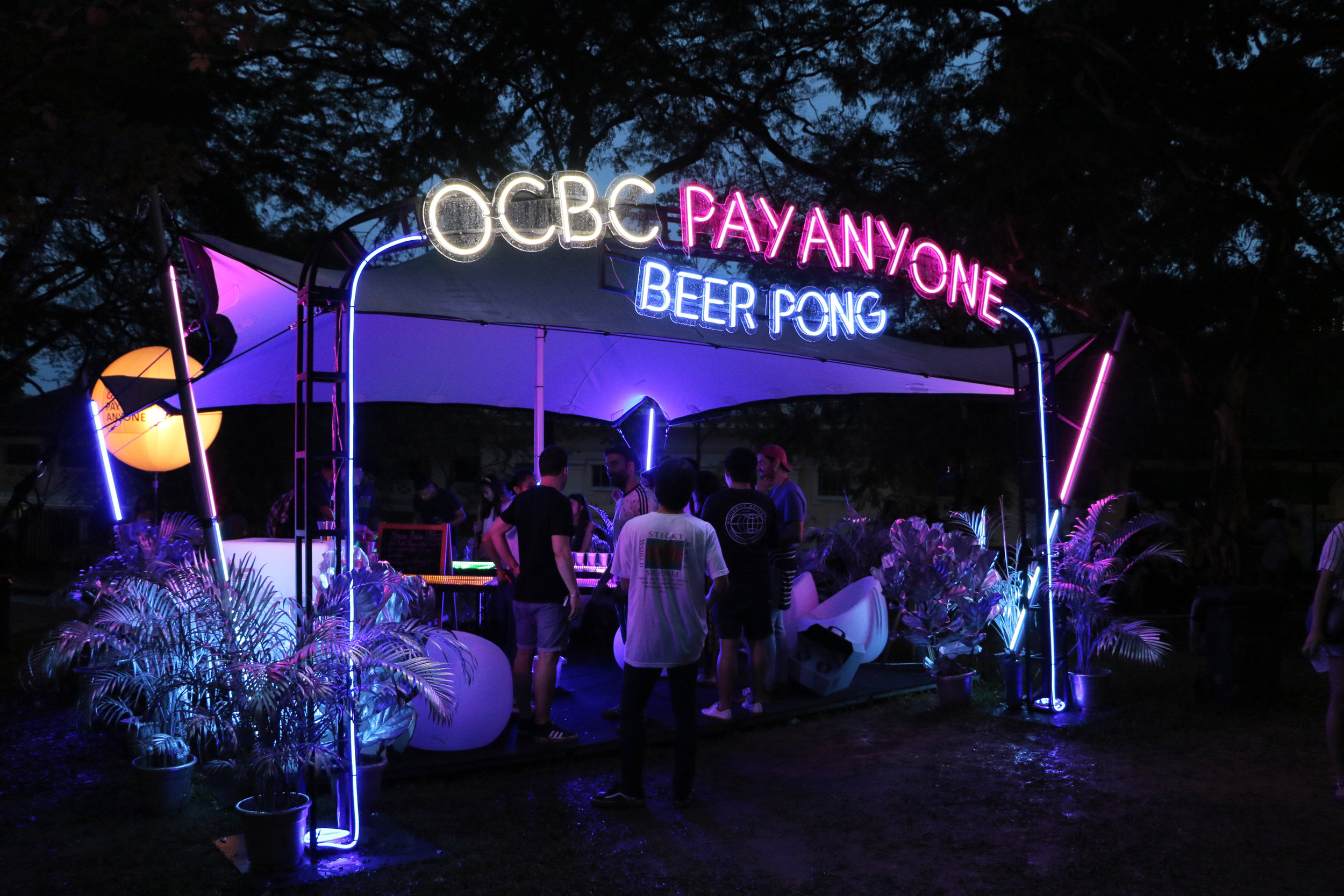 OuterEdit OCBC Pay Anyone  - cosmic jungle installation
