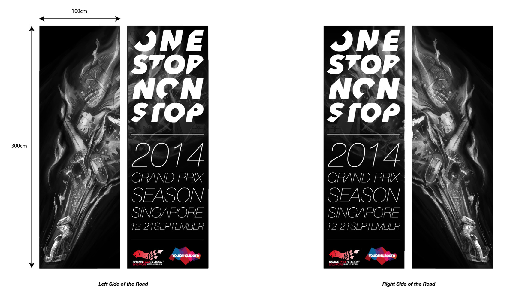 outeredit - f1 grand prix season singapore - banners