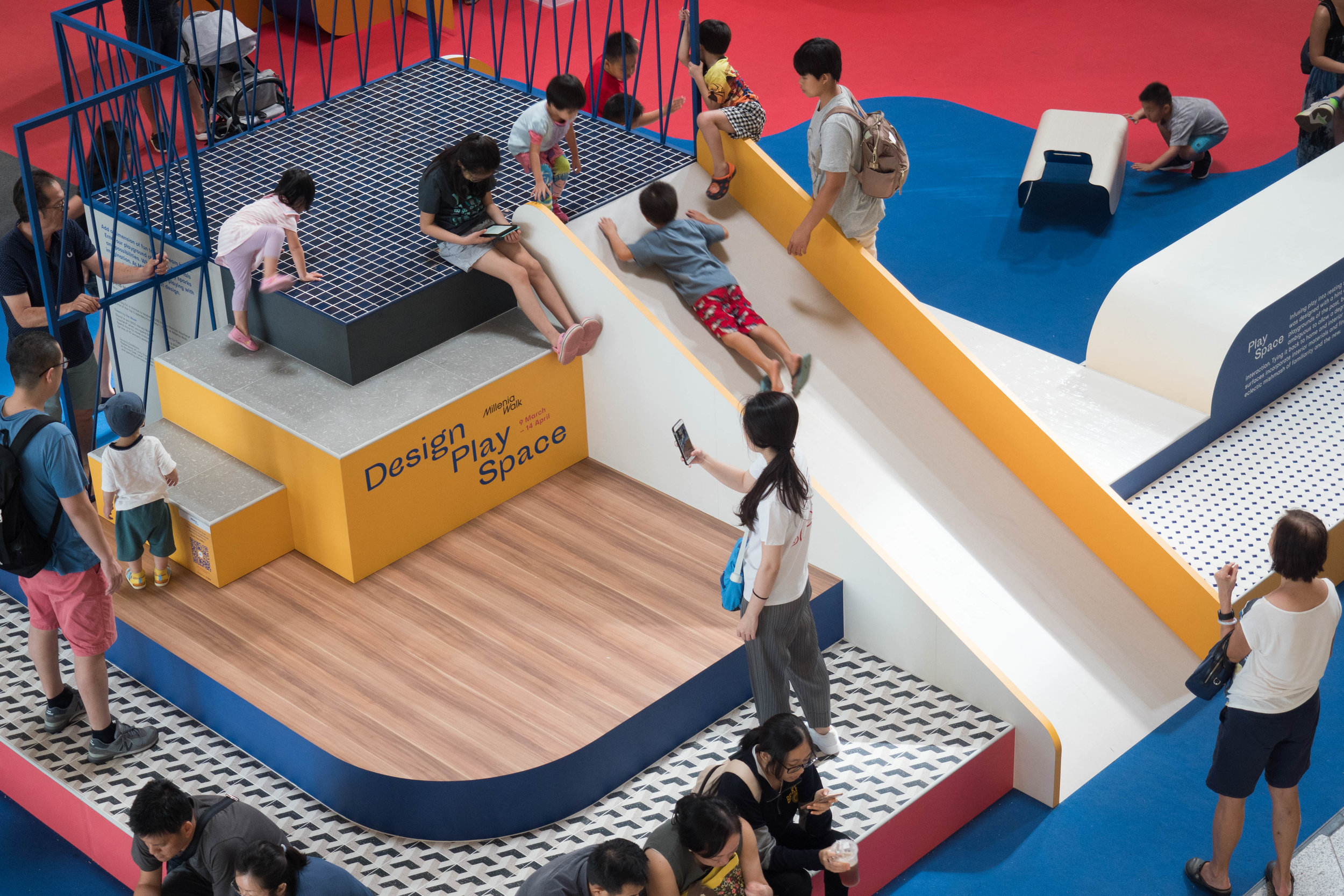 outeredit - millenia walk design play space - slide