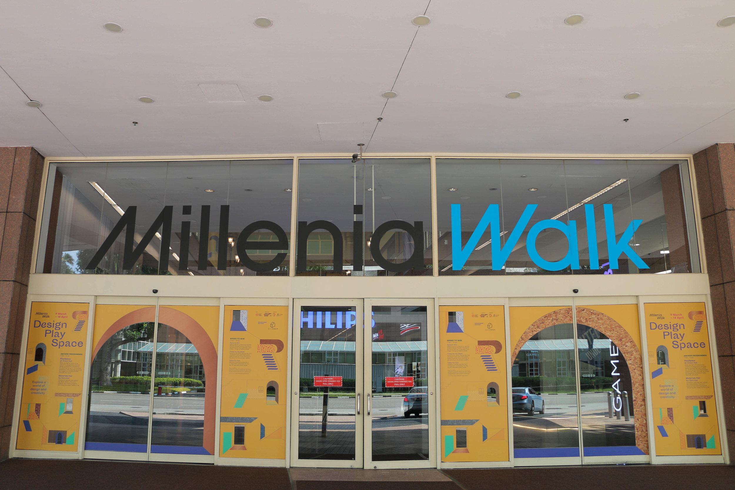 outeredit - millenia walk design play space - doors