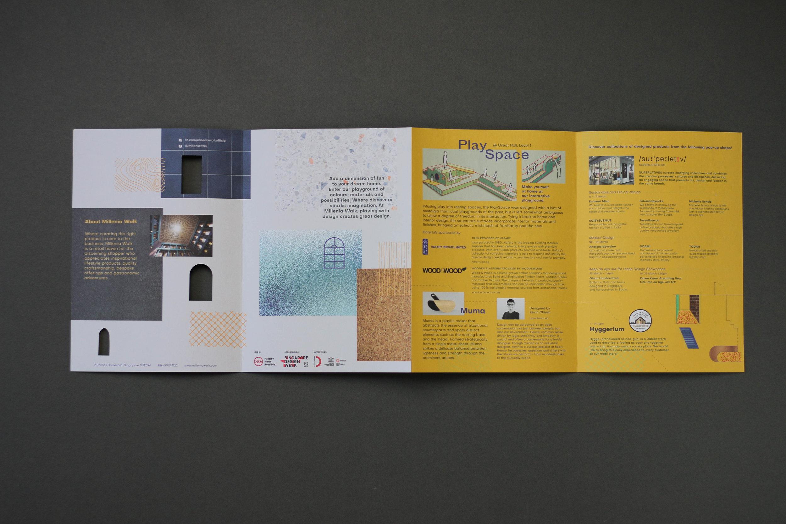 outeredit - millenia walk design play space - brochure open