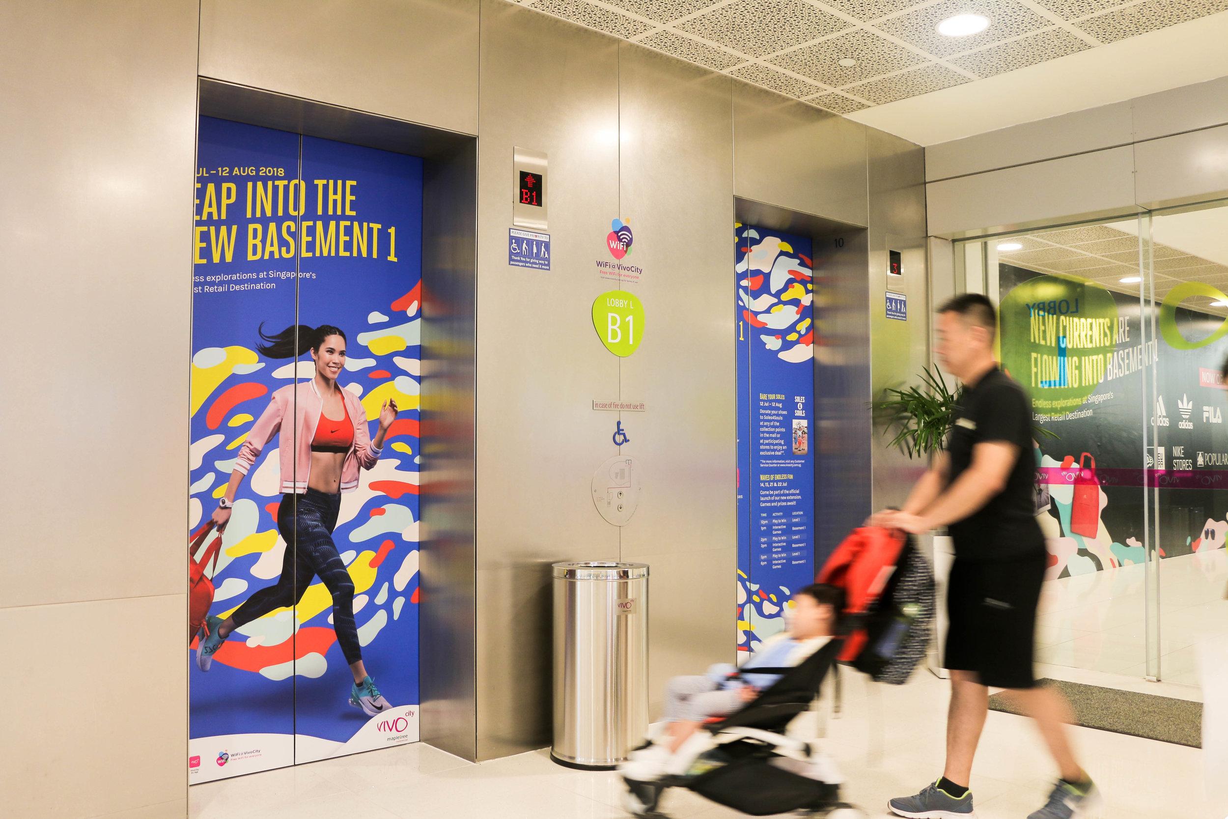 outeredit vivocity basement 1 lift doors