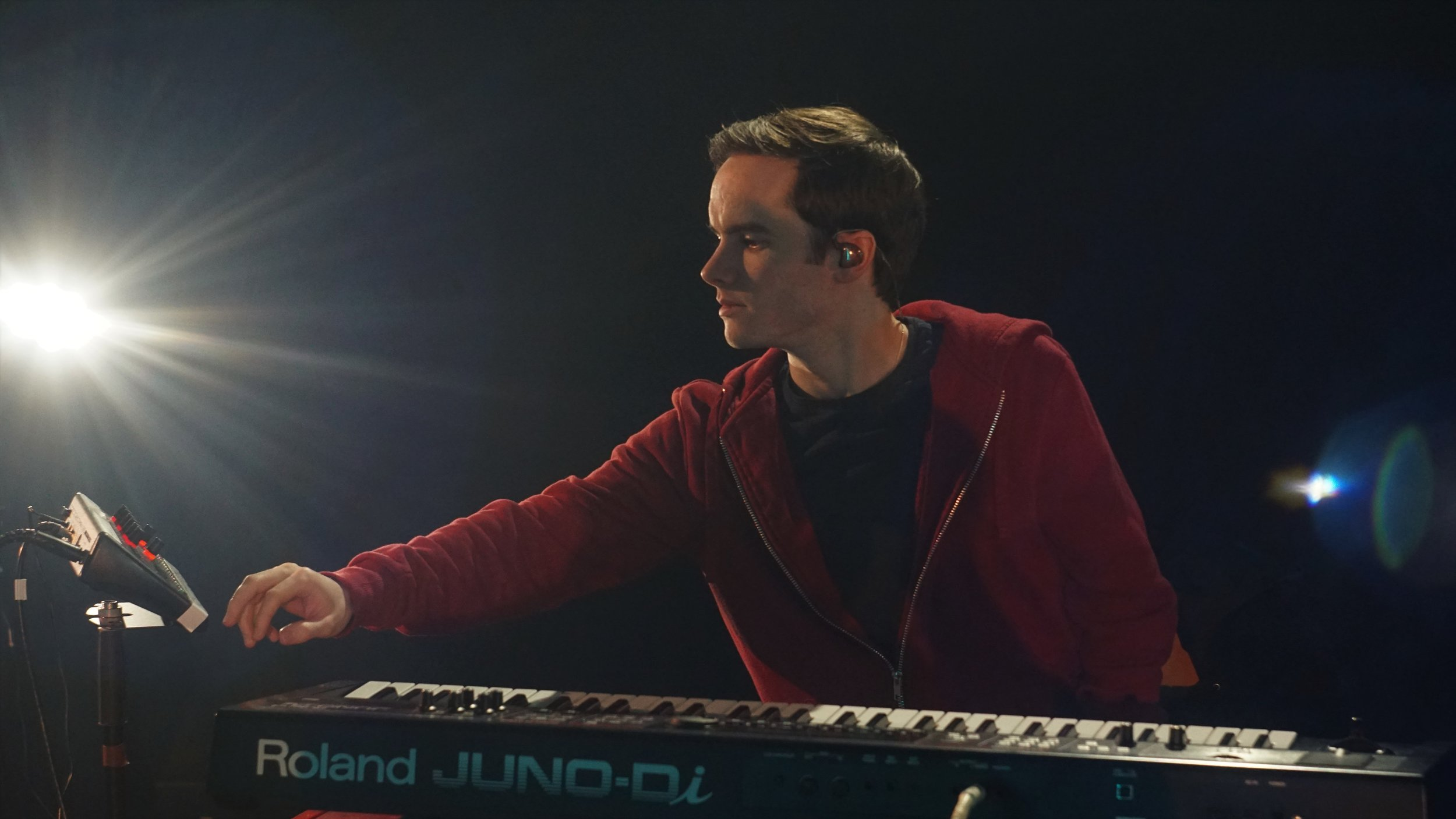 And yes, that is my lovely new Roland Juno Di - thanks for asking. Photo by Delilah Niel