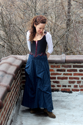 *©S Beaumont Silk Stays, Bustle Skirt, Linen Shift.jpg
