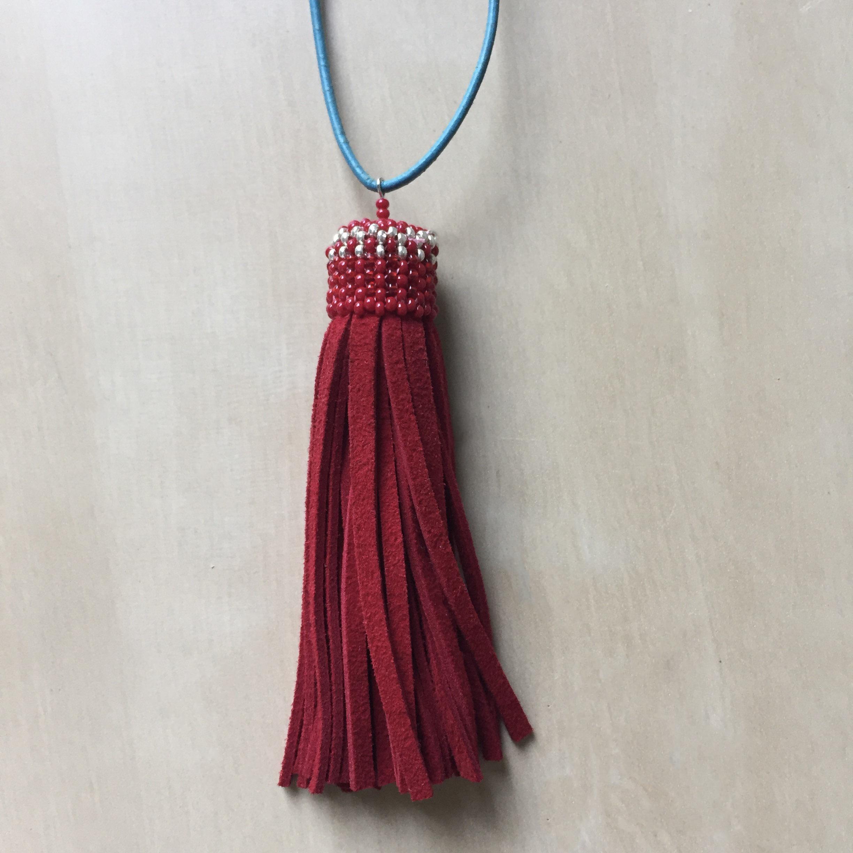 Crimson Tassel with Beaded Top, 2017