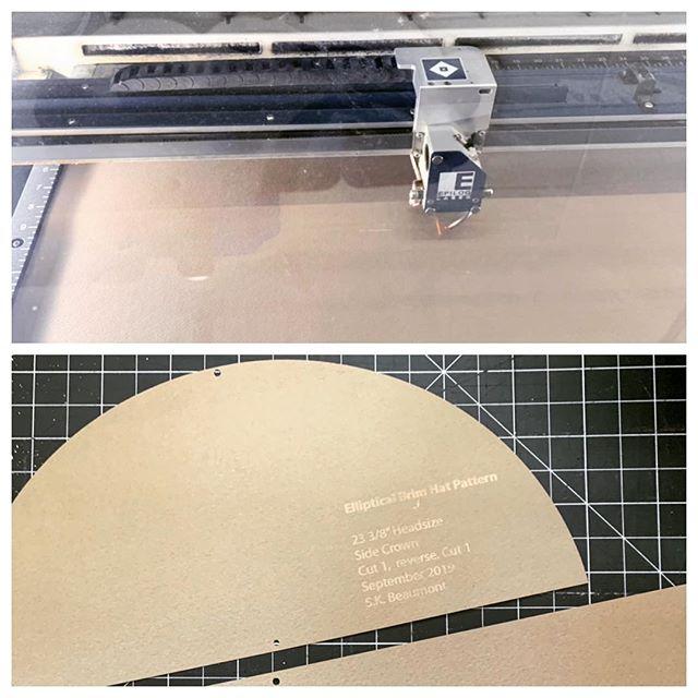 Laser printing pattern. Algebra and geometry applied. #hatmaker #millinery #oooosomuchmath #patternmaking
