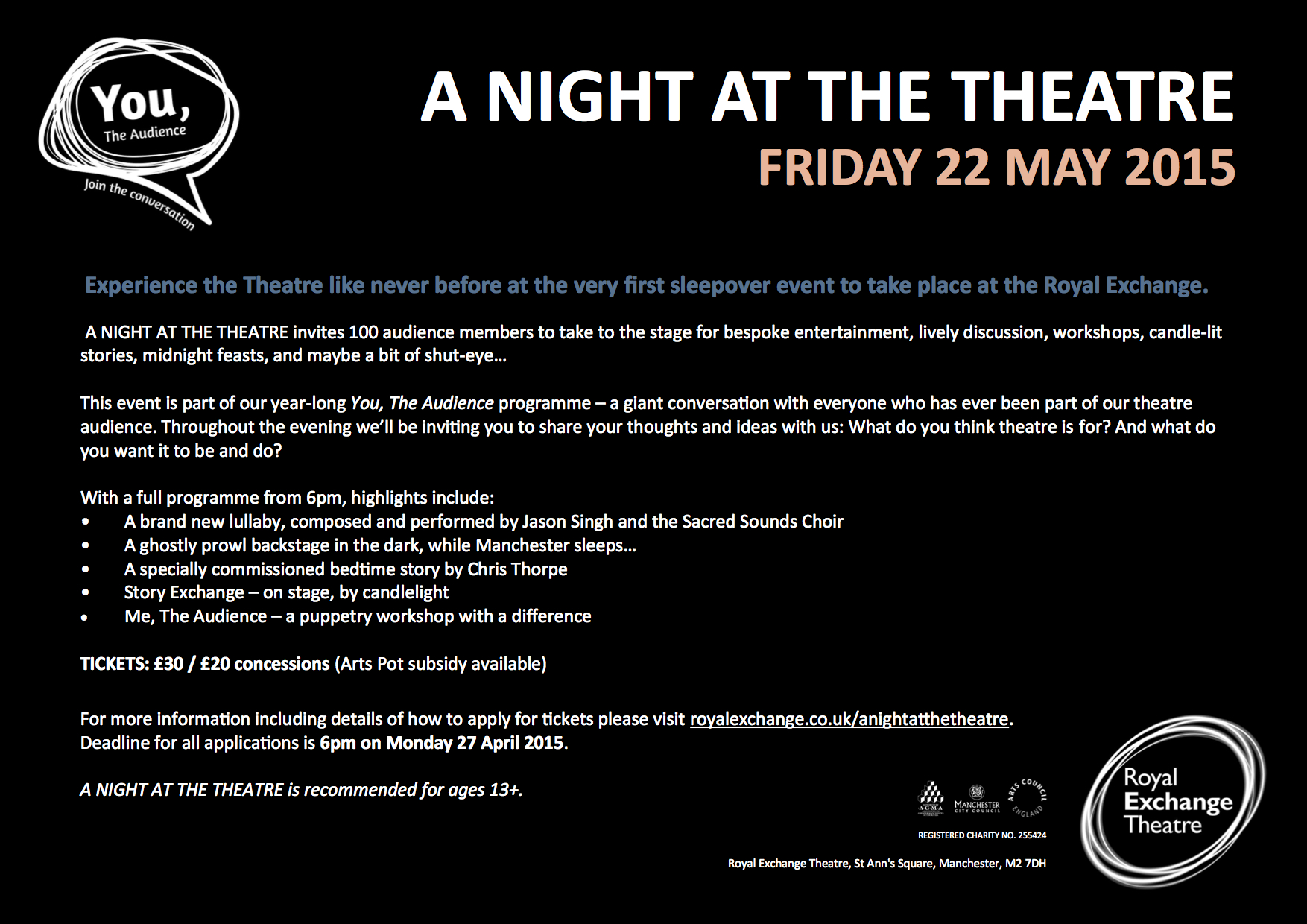 A Night at the Theatre - A Sleepover