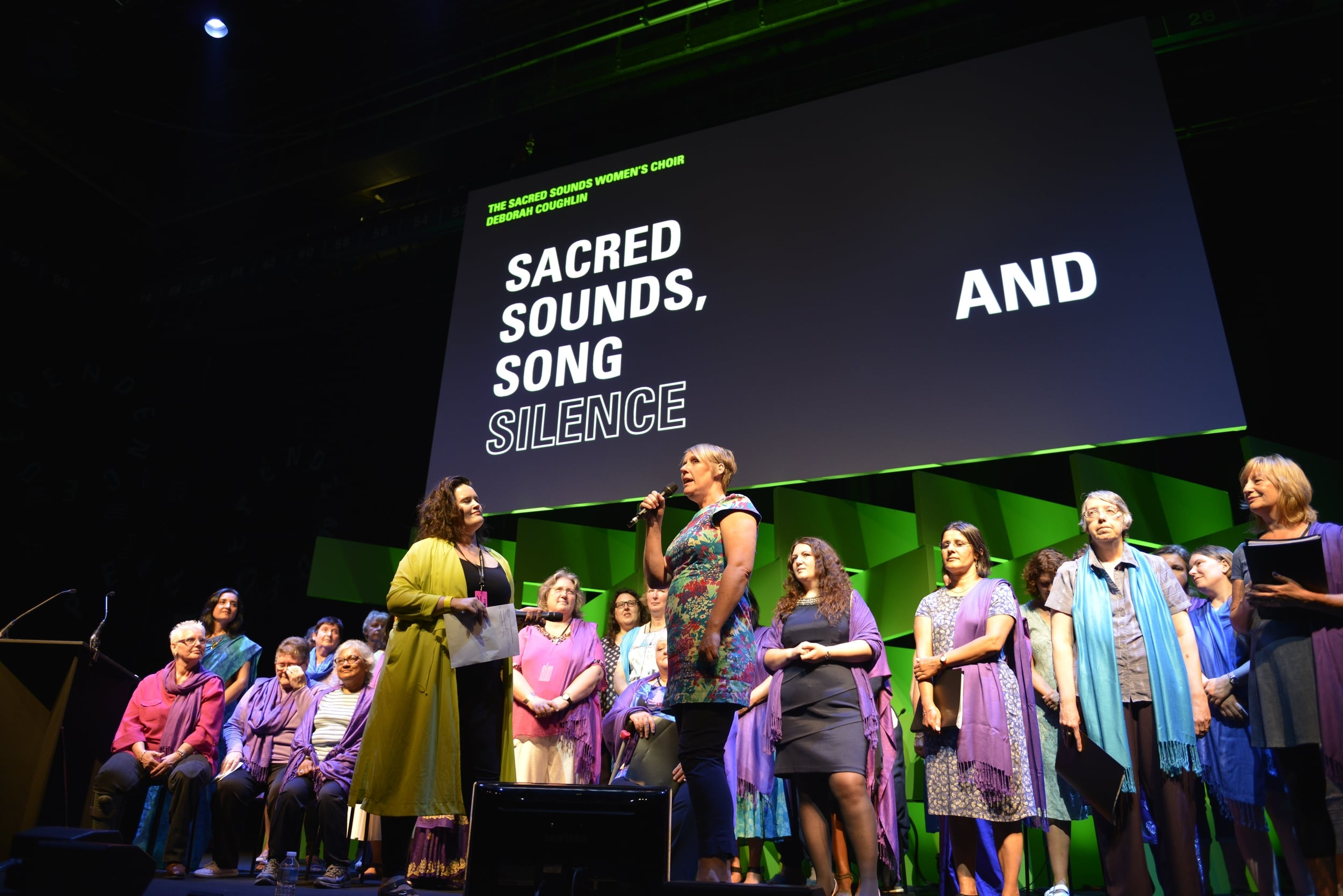 Sacred Sounds Women's Choir's performance and interview as part of Interdependence – Old Granada Studios / 04.07.15. Photo: Rob Martin for Manchester International Festival.