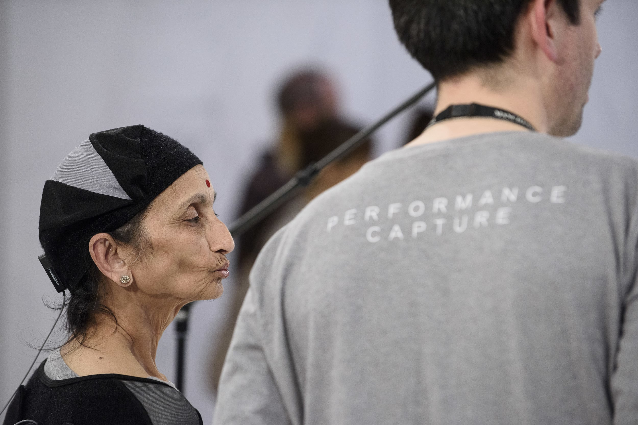 Choir Member Asha taking part in Ed Atkins' Performance Capture for MIF15 at Manchester Art Gallery. Photo: Joel Chester-Fildes for Manchester International Festival