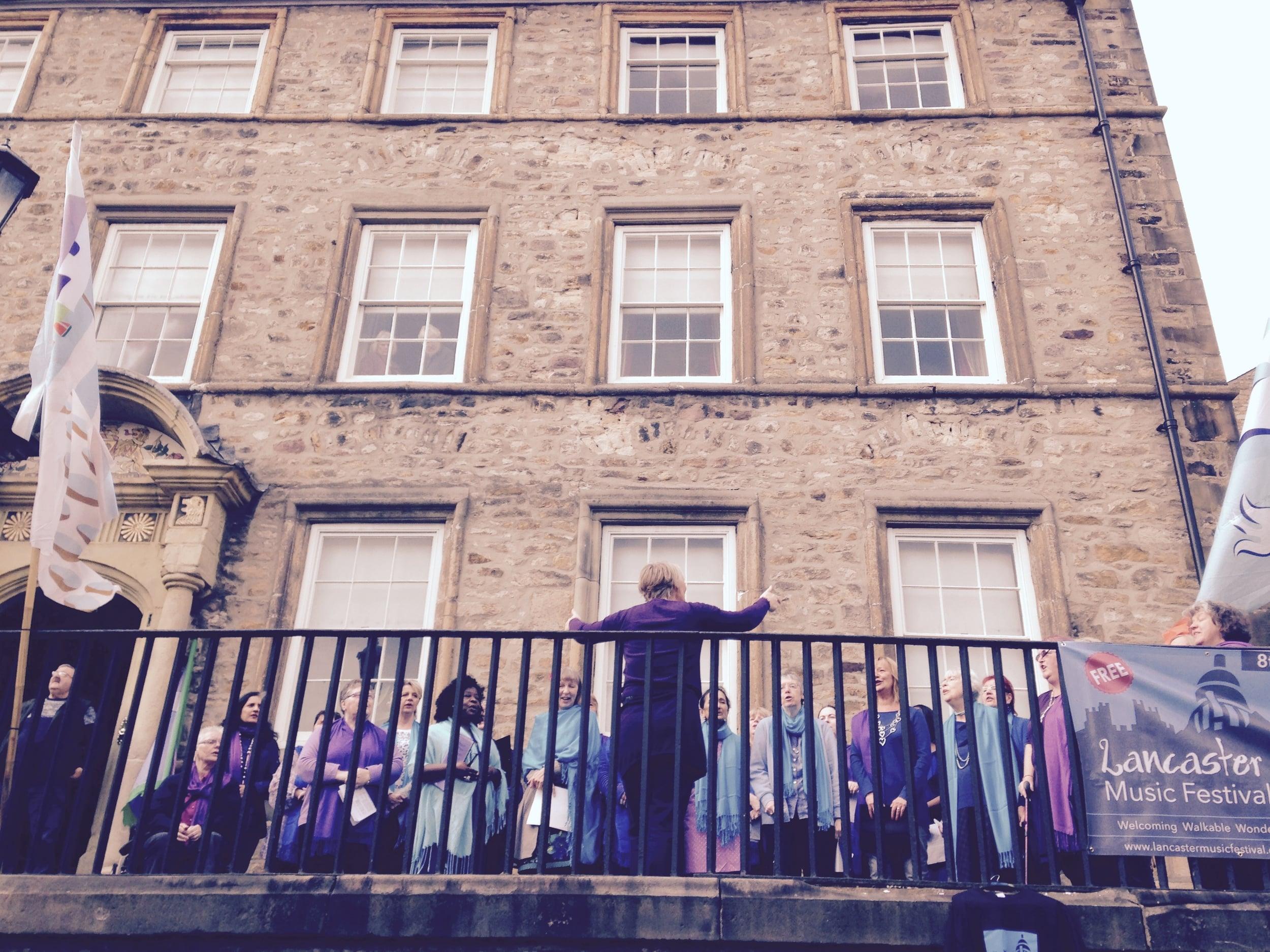 Sacred Sounds Women's Choir perform at Lancaster Music Festival.Photo: Mark McCabe.