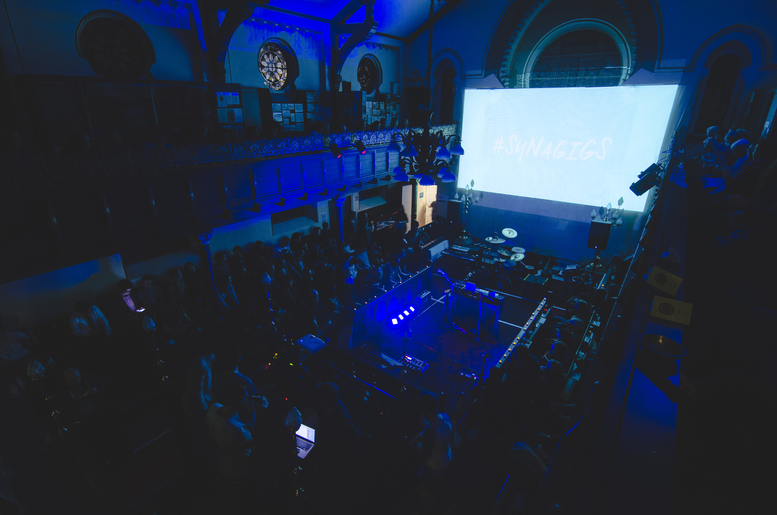 Image of the Video Jam event as part of the Autumn 2015 #SynaGigs Series. Photo:  Drew Forsyth  .