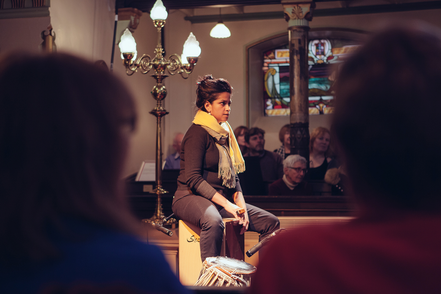 Renu Hossain performing with the Sacred Sounds Women's Choir as part of their showcase event Photo: Ray Chan