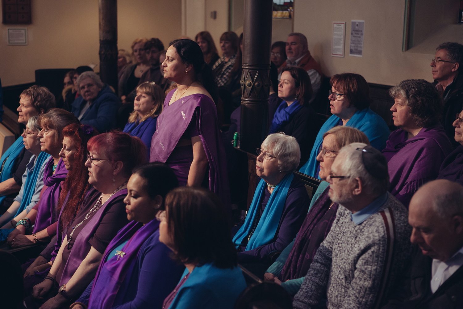Sacred Sounds Women's Choir Showcase Event performance at the Manchester Jewish Museum Photo: Ray Chan
