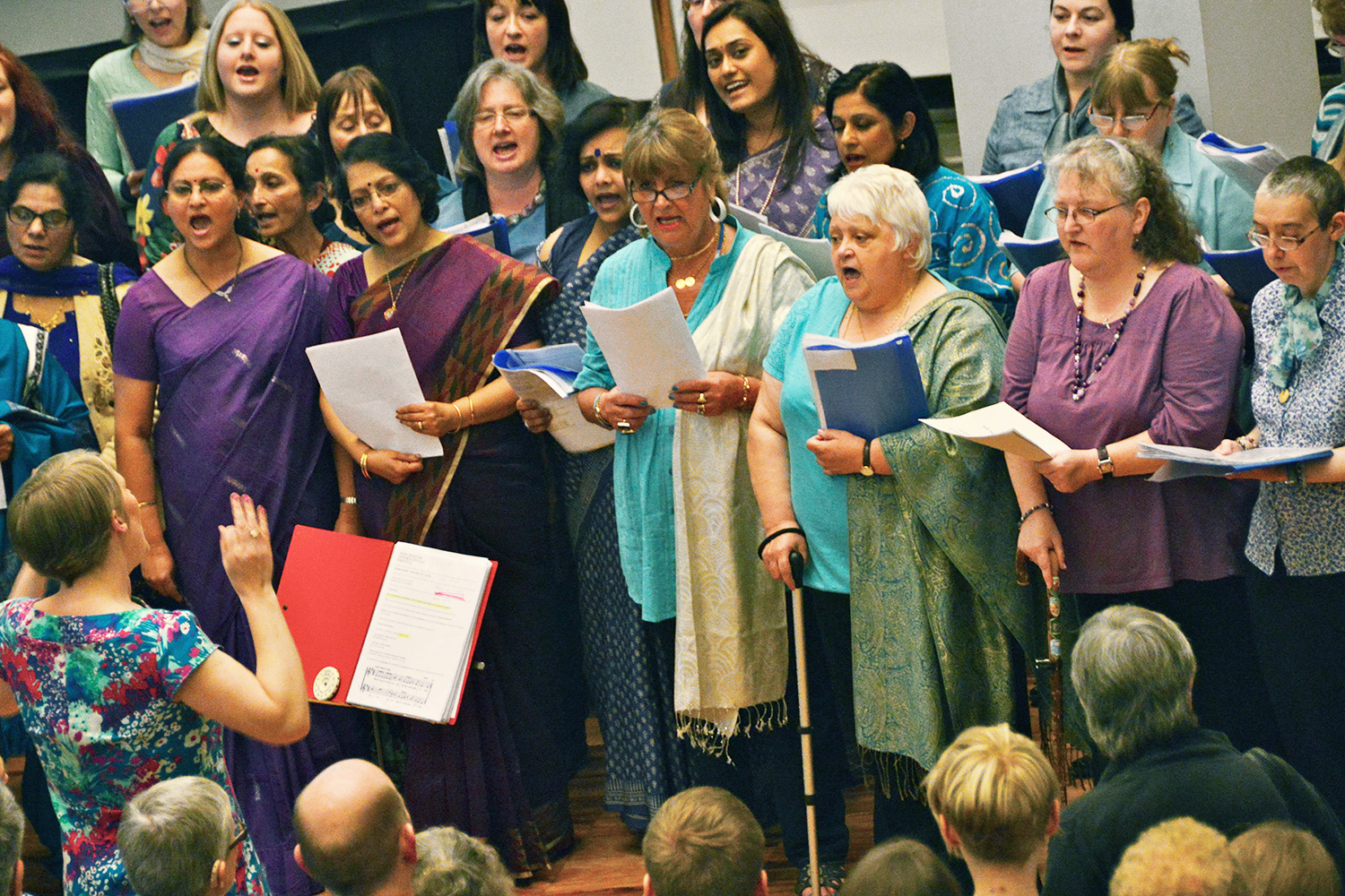 Sacred Sounds Women's Choir performing at the MIF13 Volunteers Launch Event at The Whitworth Art Gallery Photo: Robert Martin for Manchester International Festival