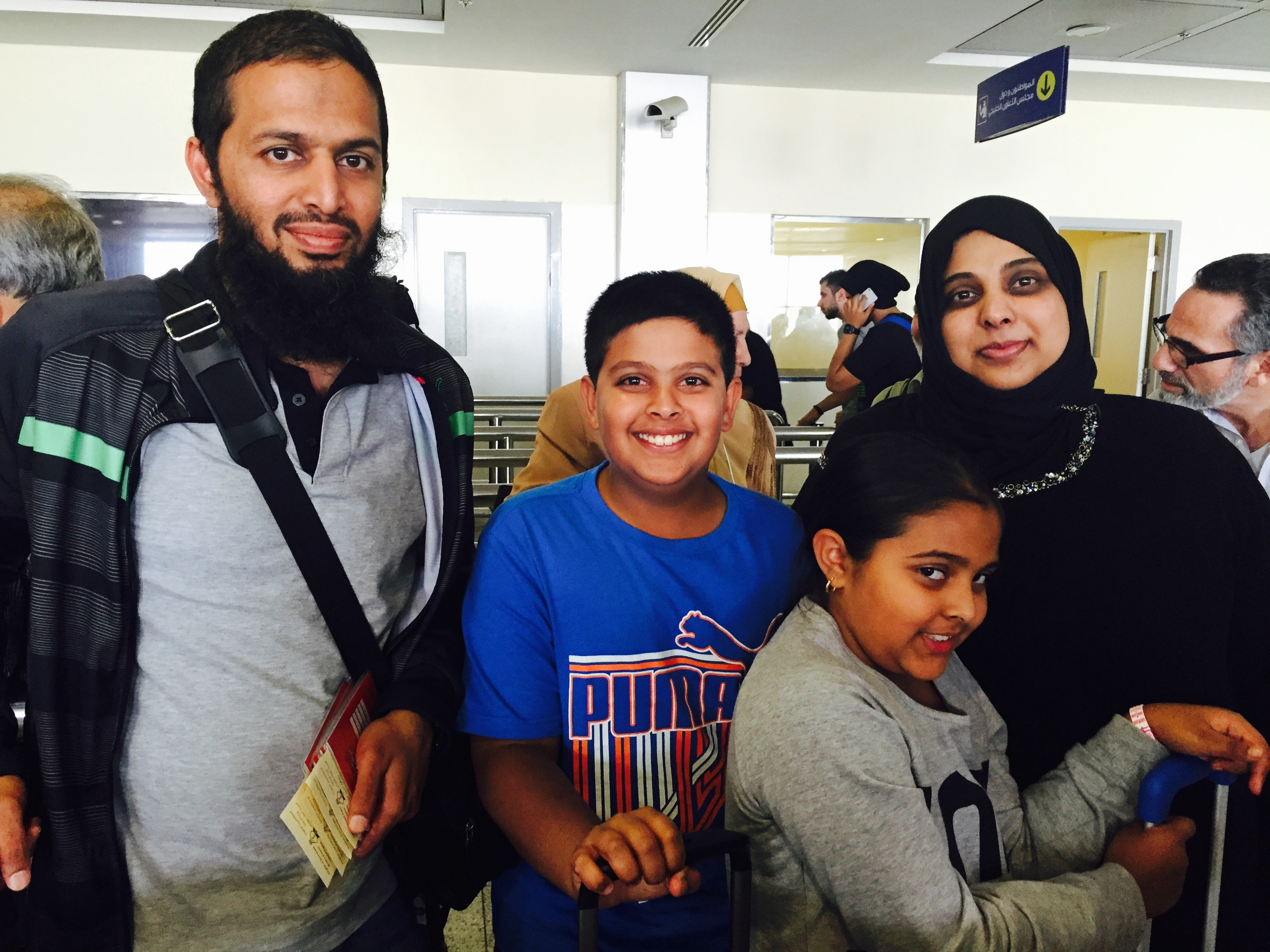 Family of four— travelled from South Africa for Umrah