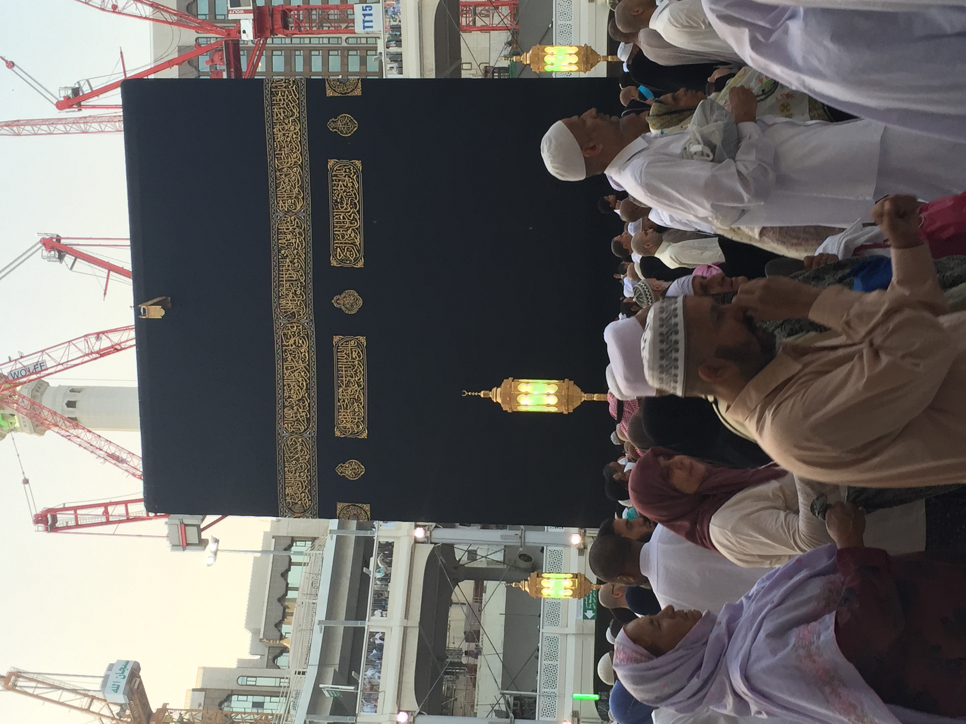 Kaaba under construction
