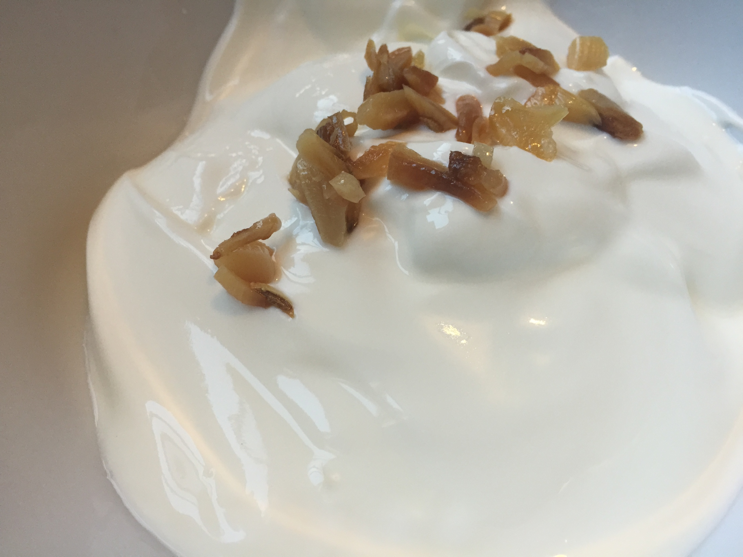 Greek yogurt with roasted garlic