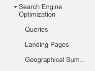 Old SEO section in Google Analytics.