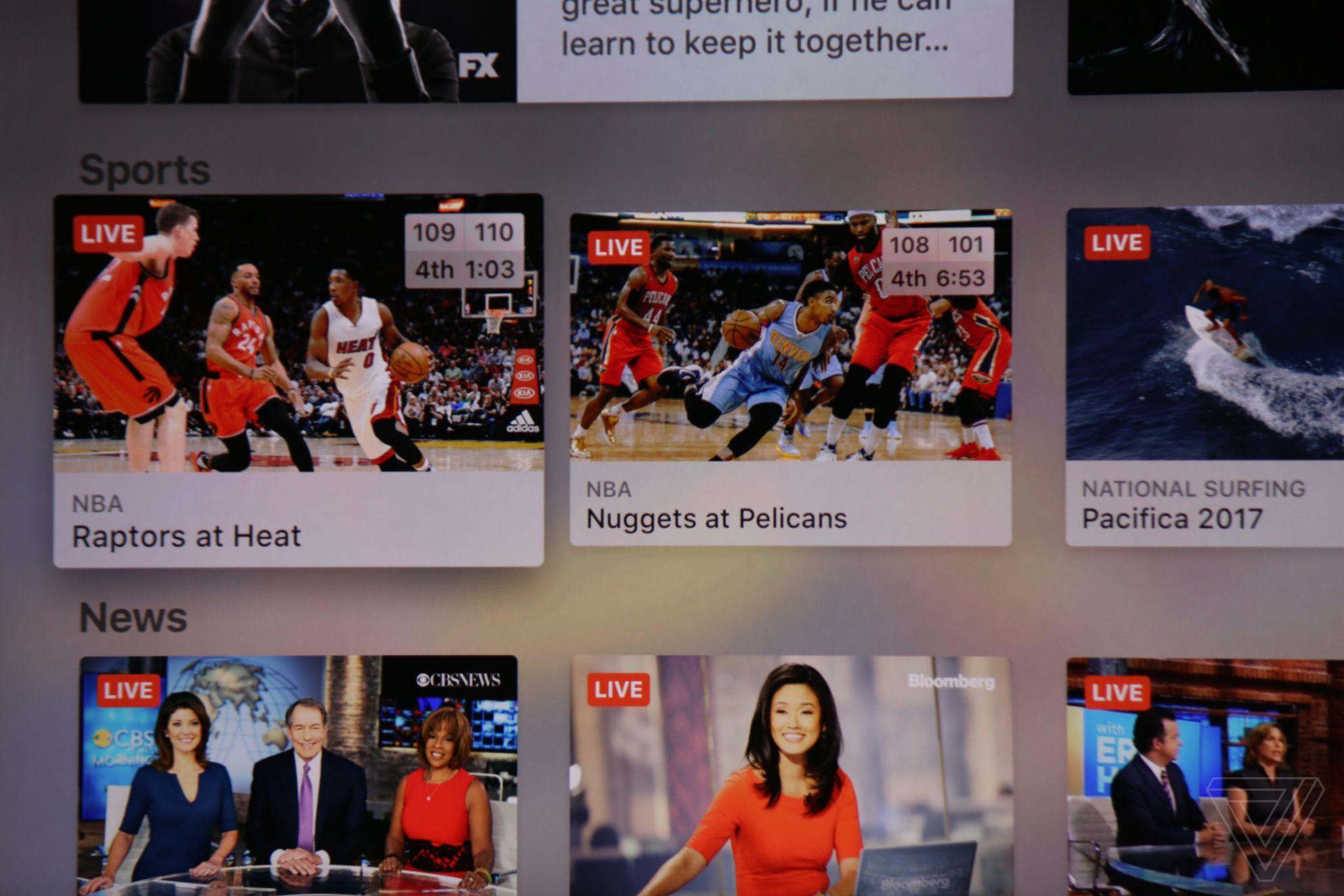 Apple TV Live Sports