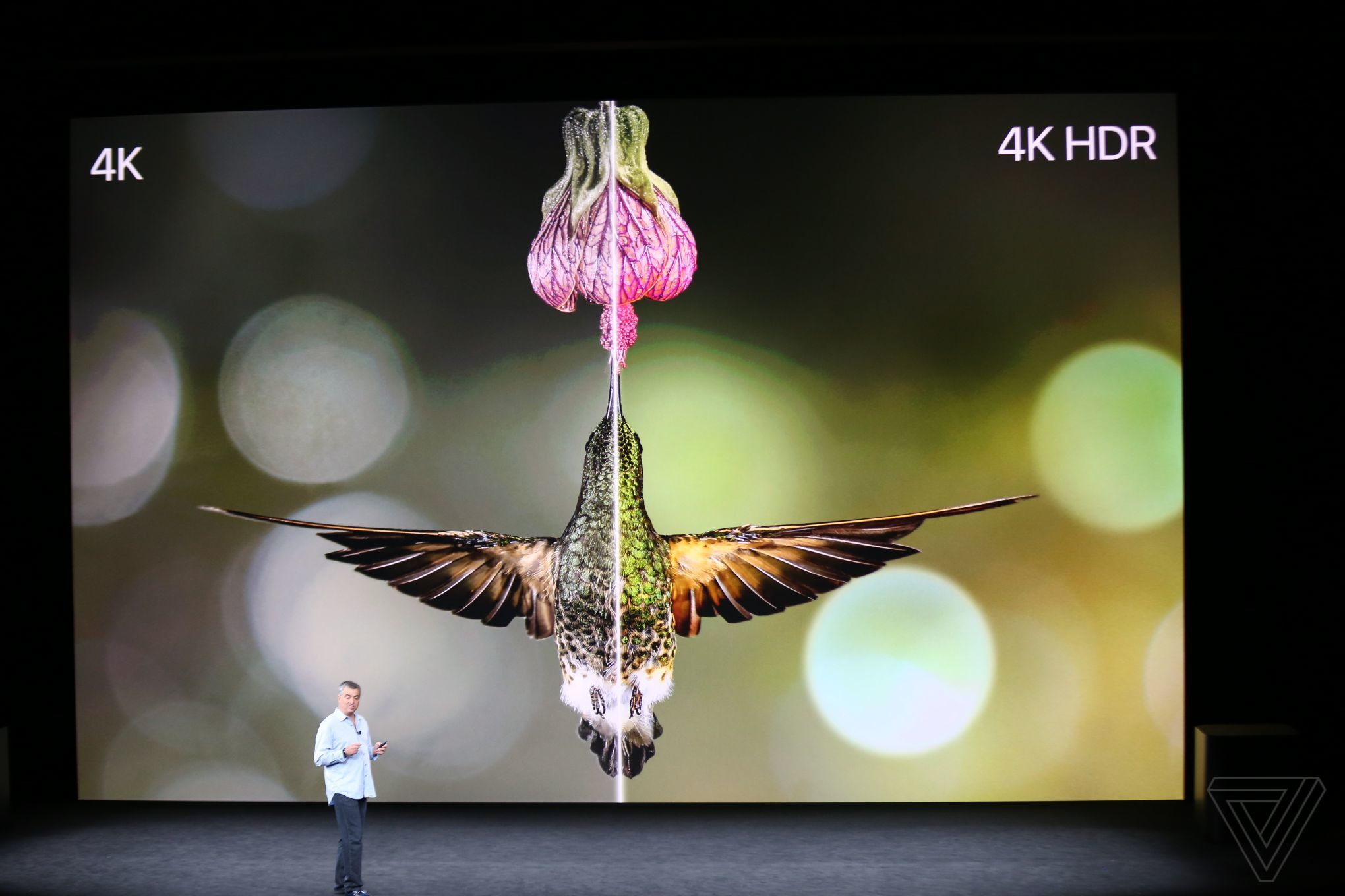 Comparing 4K to HDR image quality on new Apple TV.