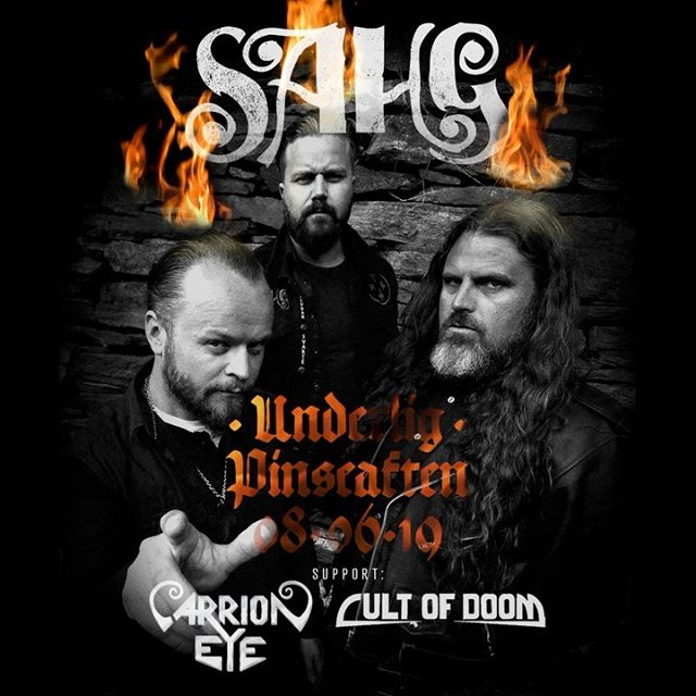 🔥The Power of the Trio Rises!!🔥 SAHG + Cult Of Doom + Carrion Eye LIVE på @underlig_scene LØR 08-06-2019!!! TICKET LINK IN BIO    @carrioneye  #underlig #heavymetal #bergennorway #powertrio