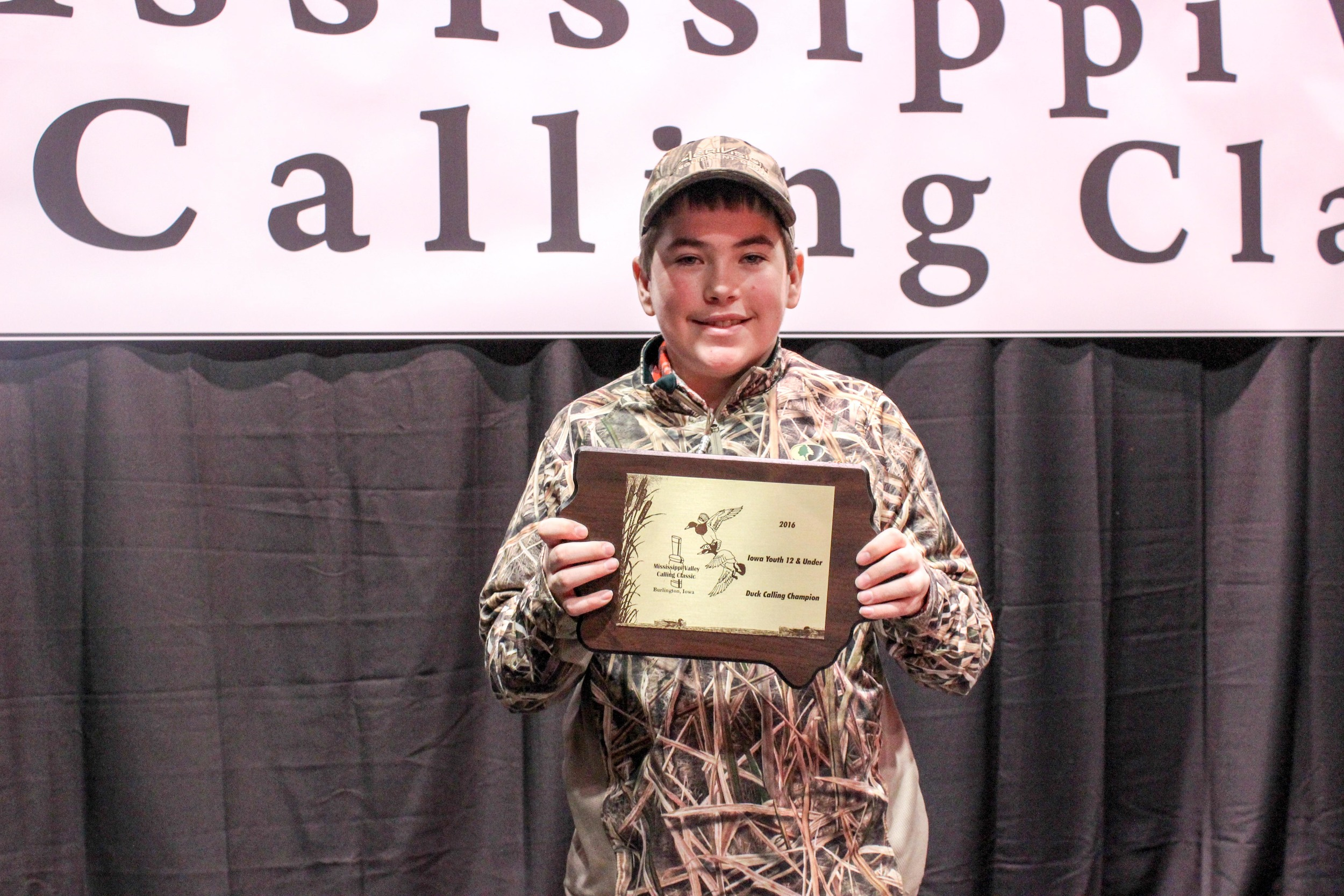 Cooper Harrison: 2016 Mississippi Valley Youth Duck Calling Champion: Junior Division