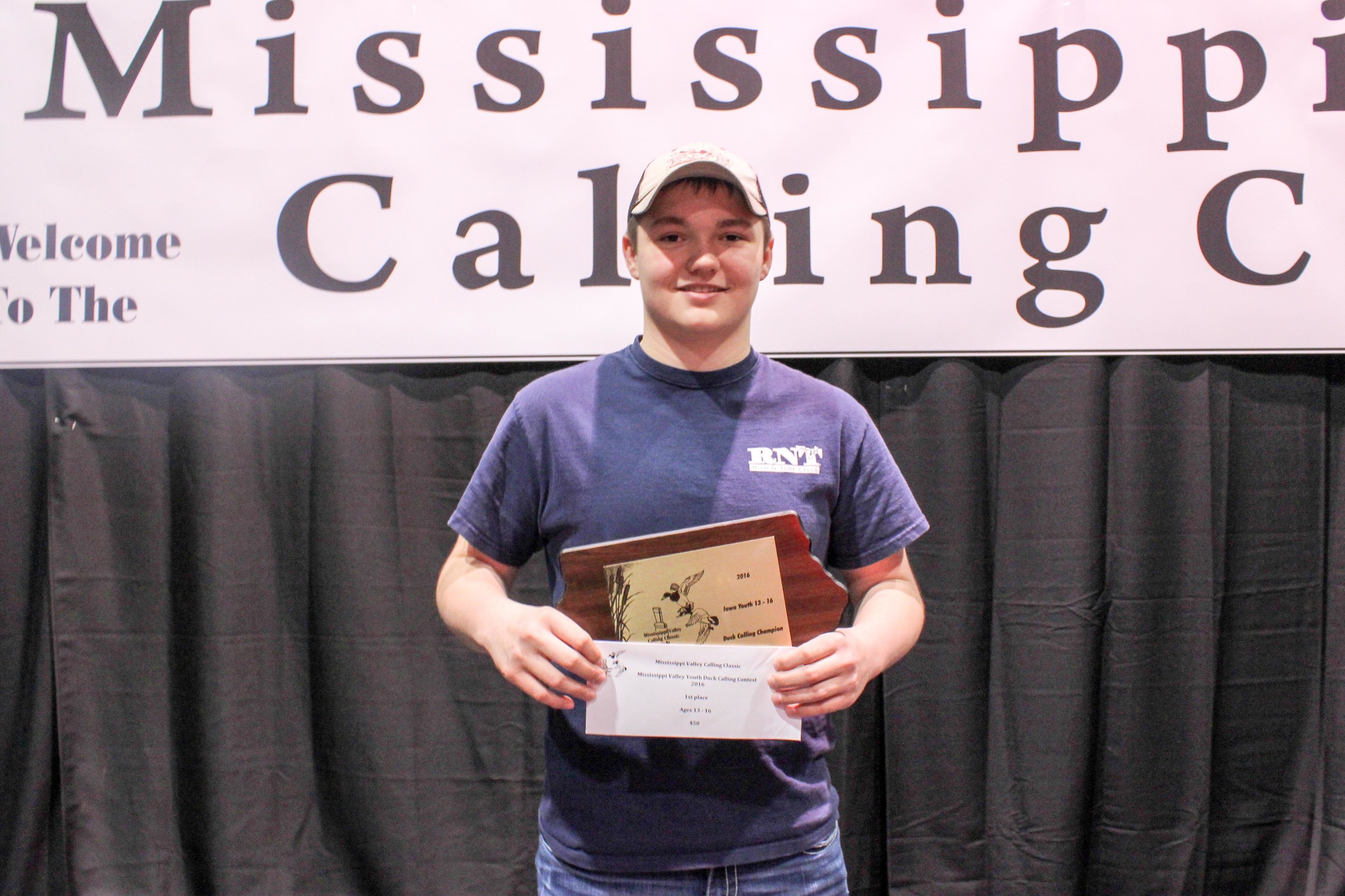 Cody Severe: 2016 Mississippi Valley Youth Duck Calling Champion: Intermediate Division
